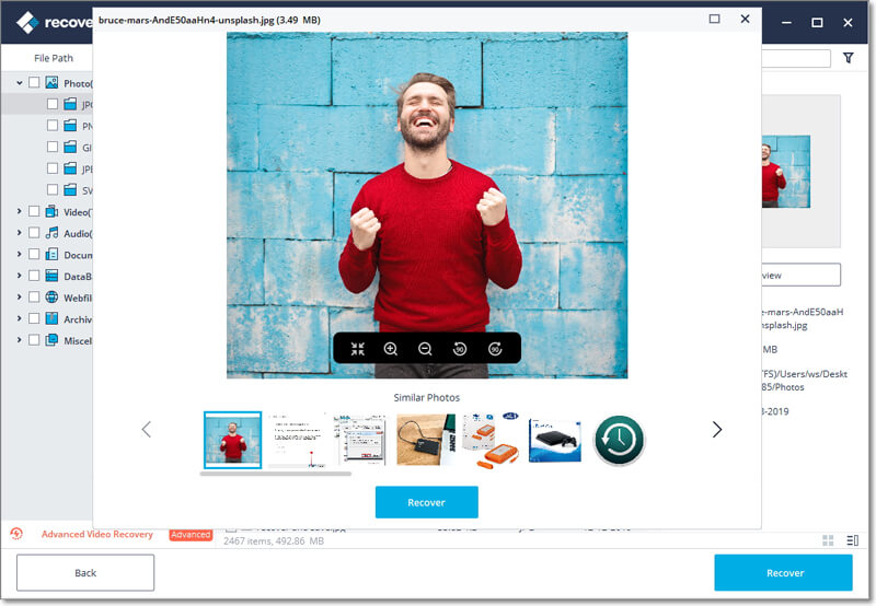 recover photos and save them