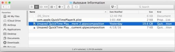 QuickTime Autosave Folder