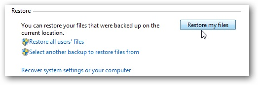 Use Windows Backup
