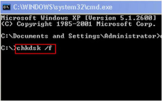 Use chkdsk command