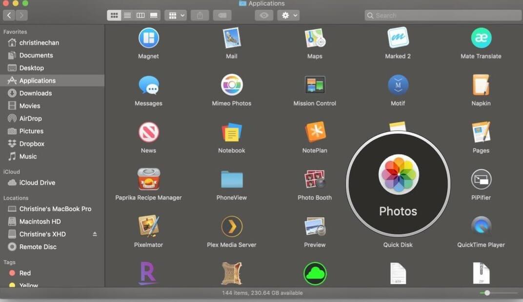 open on mac
