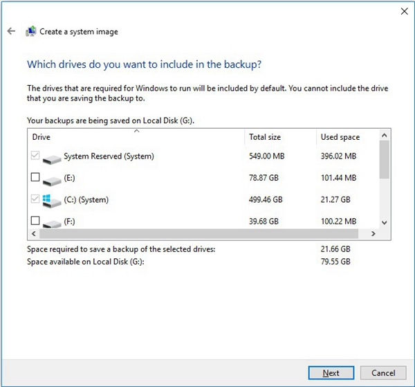 select the source partitions in windows sanp it tool 3