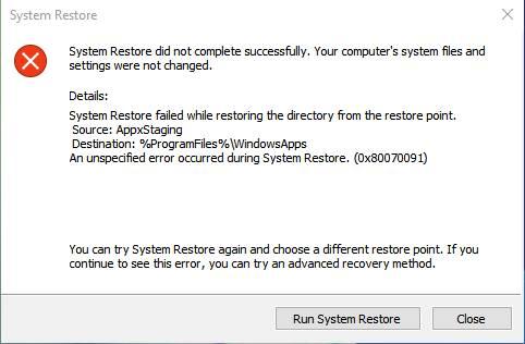 error-0x80070091