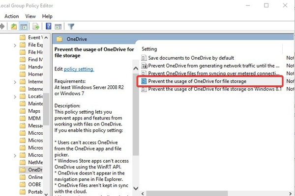 unsync-onedrive-with-group-policy-editor-1