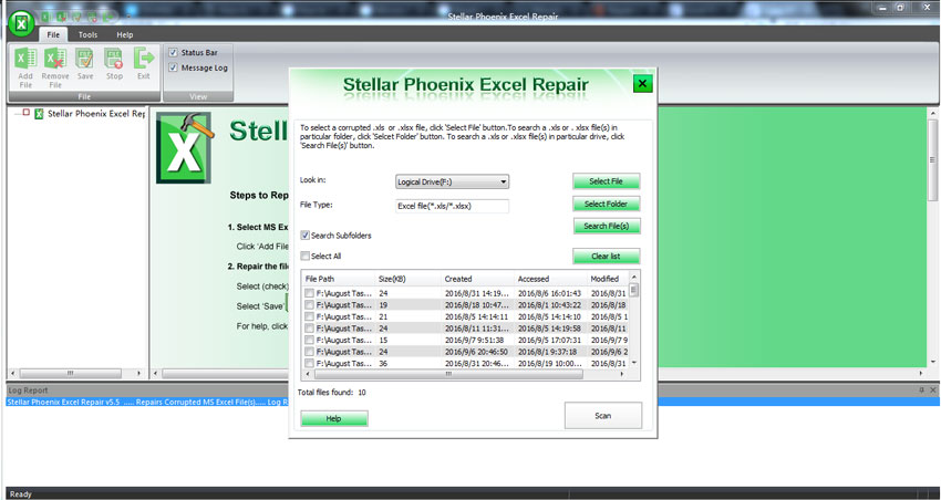 recover excel file error step 2