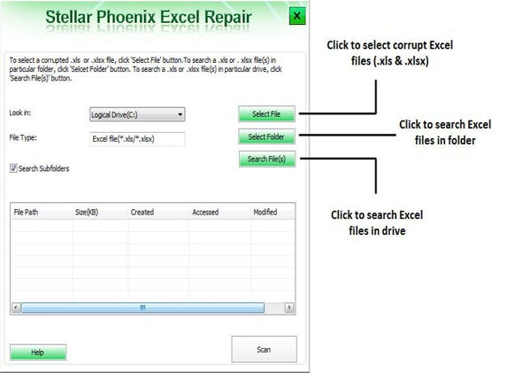 fix excel file error step 1