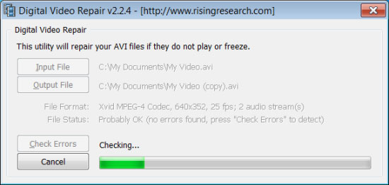 repair corrupt video files