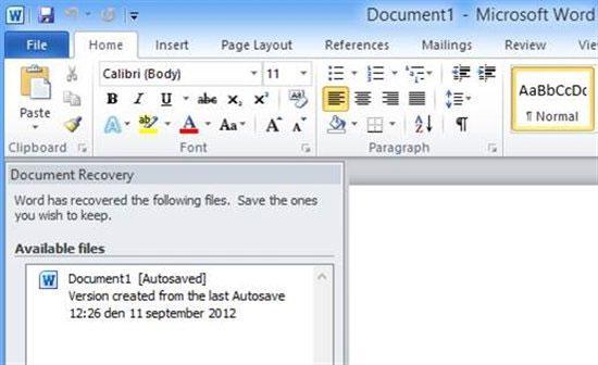como recuperar arquivo apagado no word