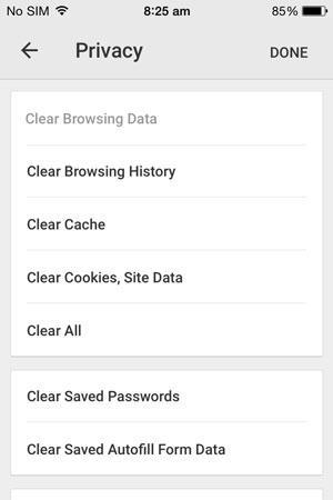 como excluir o historico de navegacao e cookies do google chrome