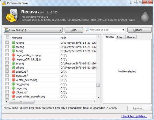 como recuperar arquivos deletados da lixeira