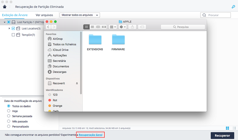 recover lost partition on Mac