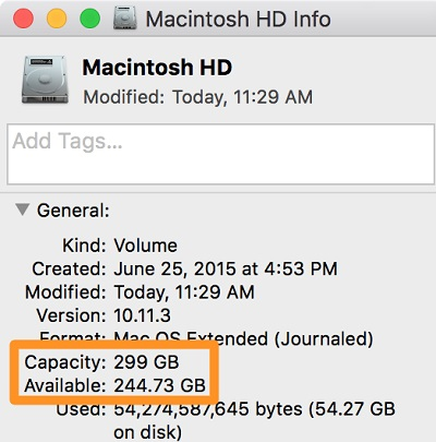 capacity-disk-mac