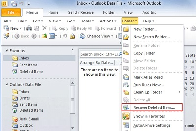 Come Recuperare Email Eliminate in Outlook 2010, 2007, 2003, ecc.