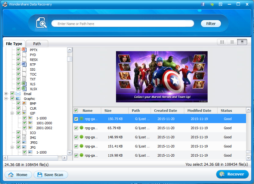 Come recuperare cancellato/perso file AVI con Wondershare Recupero Dati