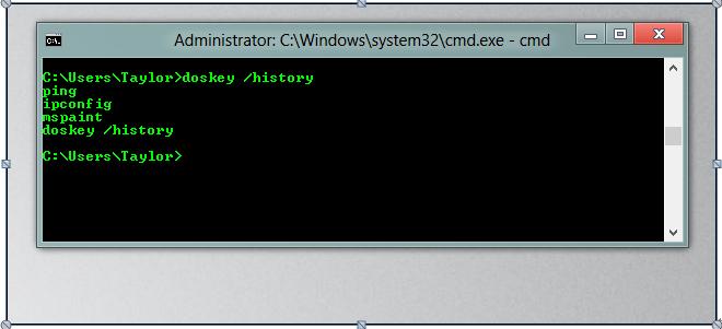 """Verwenden Sie den """"doskey""""-Befehl, um Dateien und Ordner zu löschen."""