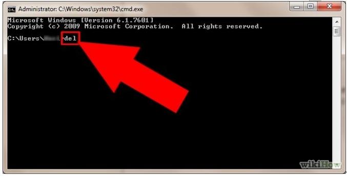 Cmd starten, um Dateien und Ordner zu löschen