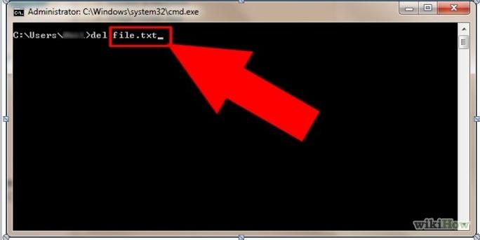 """Verwenden Sie """"cmd"""", um Dateien und Ordner zu löschen"""