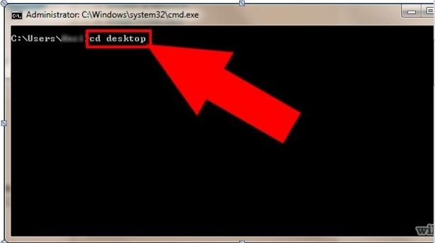 """Verwenden Sie """"cmd"""", um den Dateipfad zu vervollständigen, um Dateien und Ordner zu löschen."""