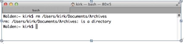 Dateien/Ordner mit der Befehlszeile auf dem Mac löschen