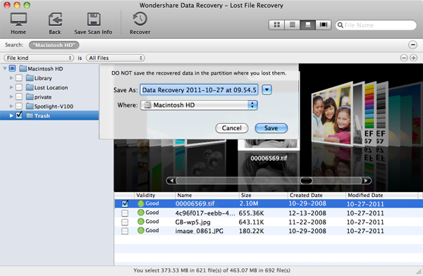 recuperacion de datos de la unida flash formateada Mac paso 3