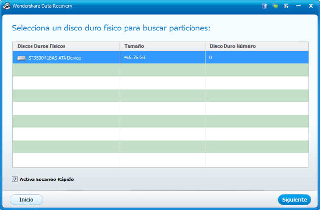 recuperar datos del disco duro con wondershare data recovery paso 2