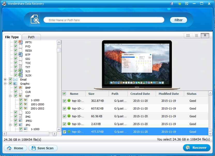recuperar datos del disco duro con wondershare data recover paso 3