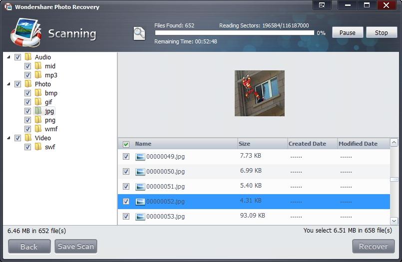 Recuperar Archivos de MMC con Recuperación de Datos Wondershare
