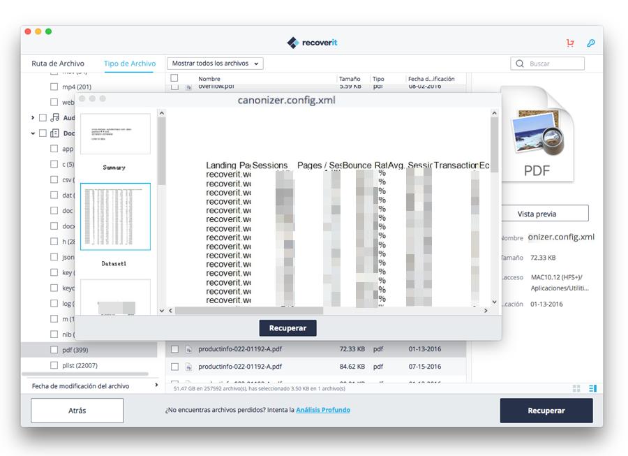 previsualizar documento de Excel
