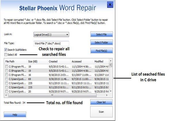 repair corrupt word file in Word 2016 step 2
