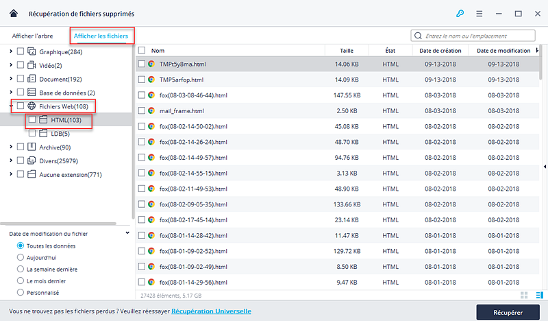 récupérer des fichiers supprimés sur Mac