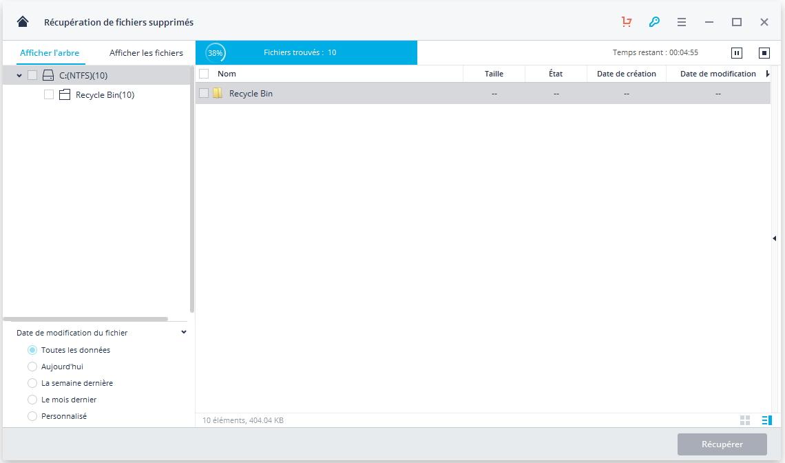analyser le disque dur de l'ordinateur pour rechercher les fichiers supprimés