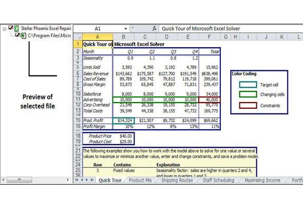 réparer fichier Excel corrompu étape 3