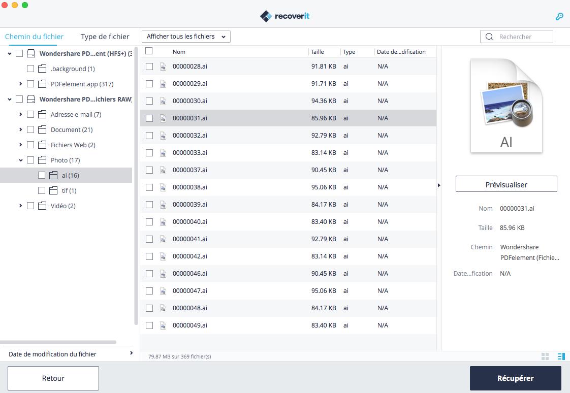 récupérer des fichiers à partir d'un périphérique externe sur mac