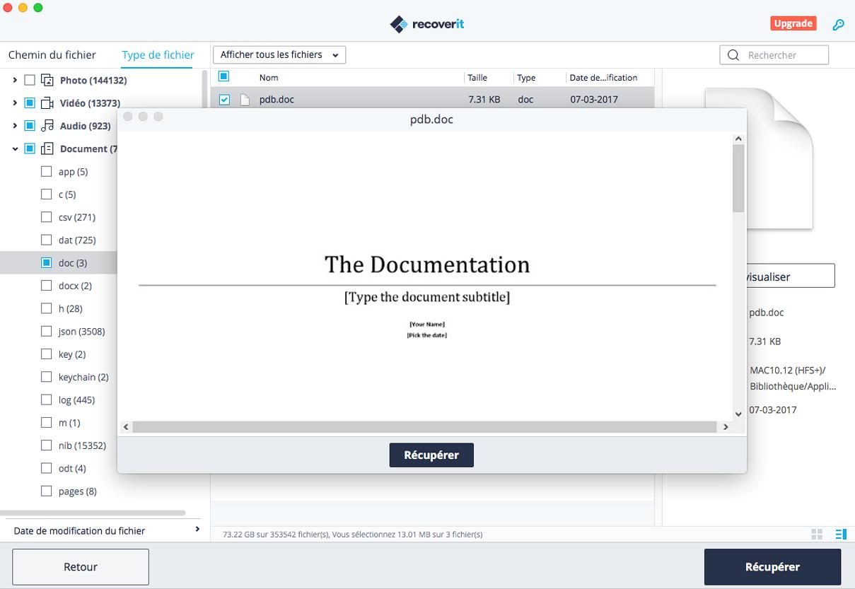 prévisualiser un document Word