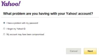 riavere la password yahoo mail dal sito ufficiale
