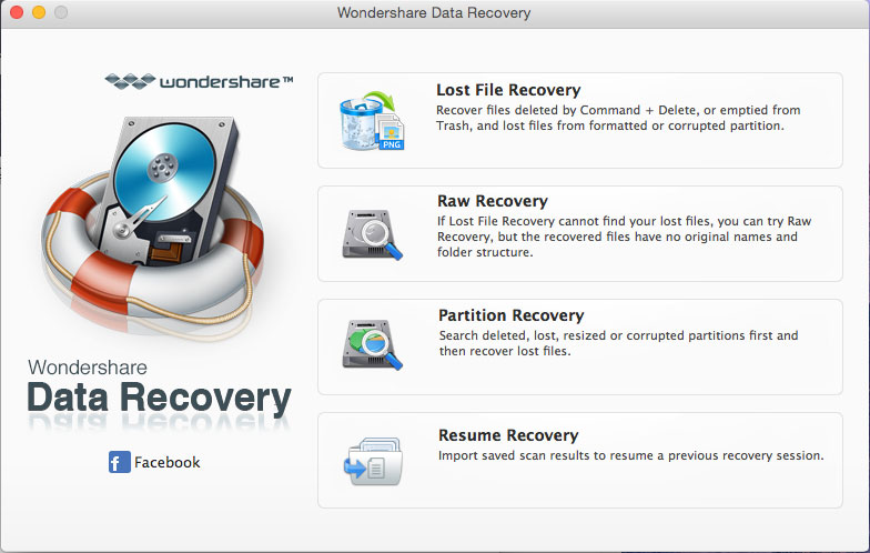 Wondershare Data Recovery to Recover Formatted Files from USB on Mac