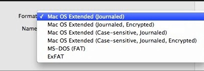 select-mac-os-extended-format