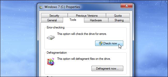 réparer le secteur défectueux du disque dur