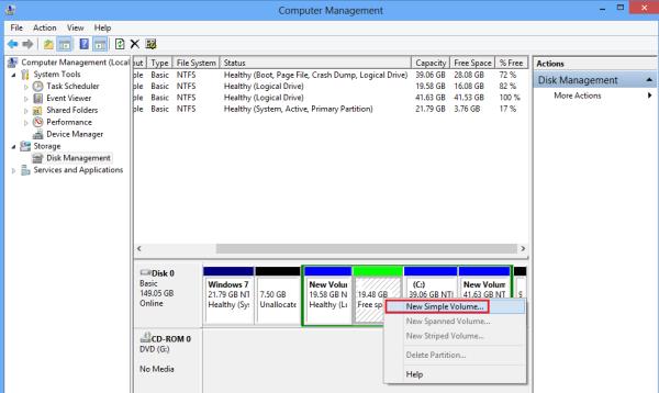 Étape 2 Partition de démarrage dans Windows 8