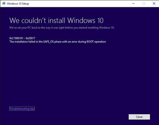 Réparer l'erreur d'écran bleu 01
