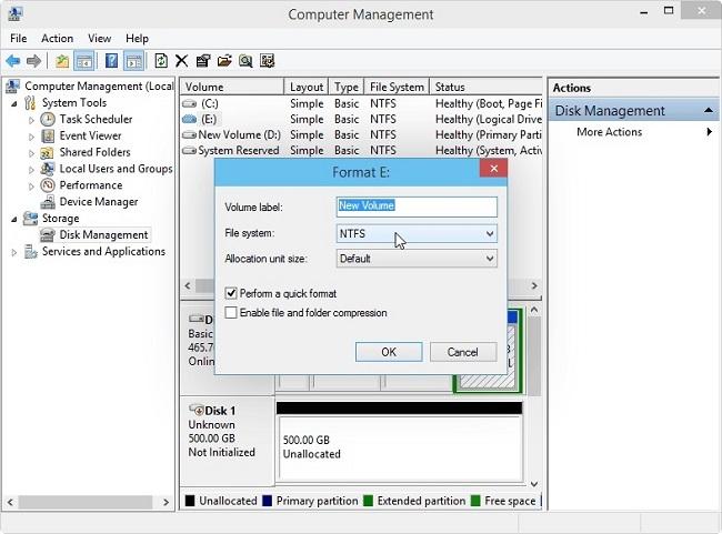étape 3 formater une partition sur Windows
