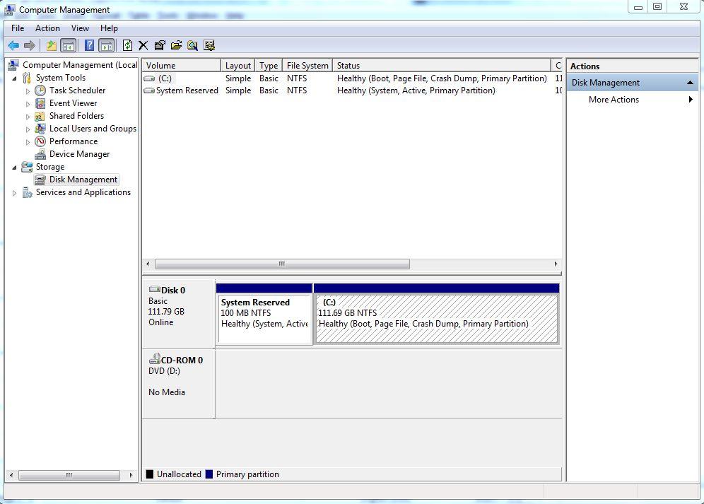 étape 1 partition de disque dur