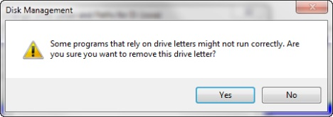 masquer la partition dans Windows - étape 5
