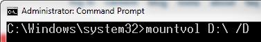 masquer la partition dans Windows 10 - étape 2