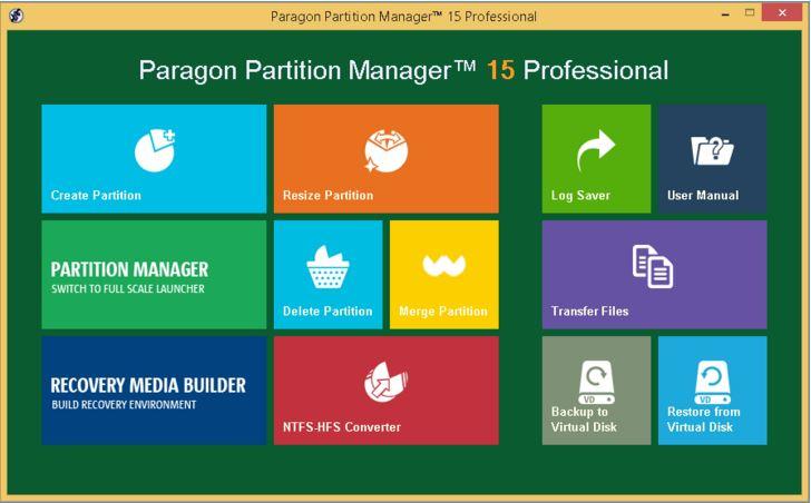 Redimensionner la partition avec Paragon Partition Master étape 1