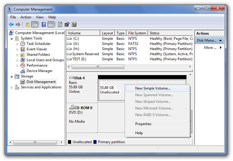 Étape 5 Partition de démarrage dans Windows