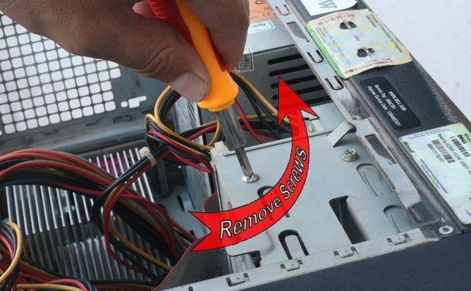 replace the hard drive in PC step 3