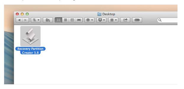 Créer une partition de récupération sur Mac - étape 1