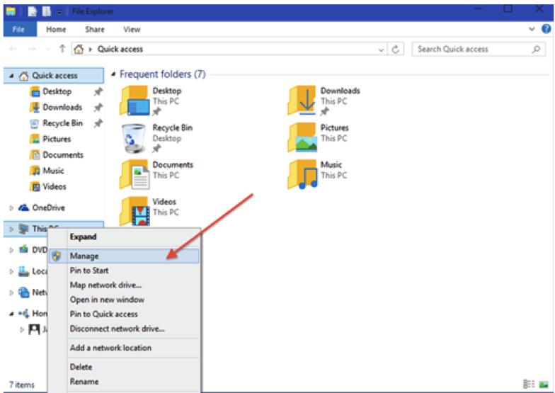 partition de disque dur avec de l'outil de gestion de l'ordinateur étape 1