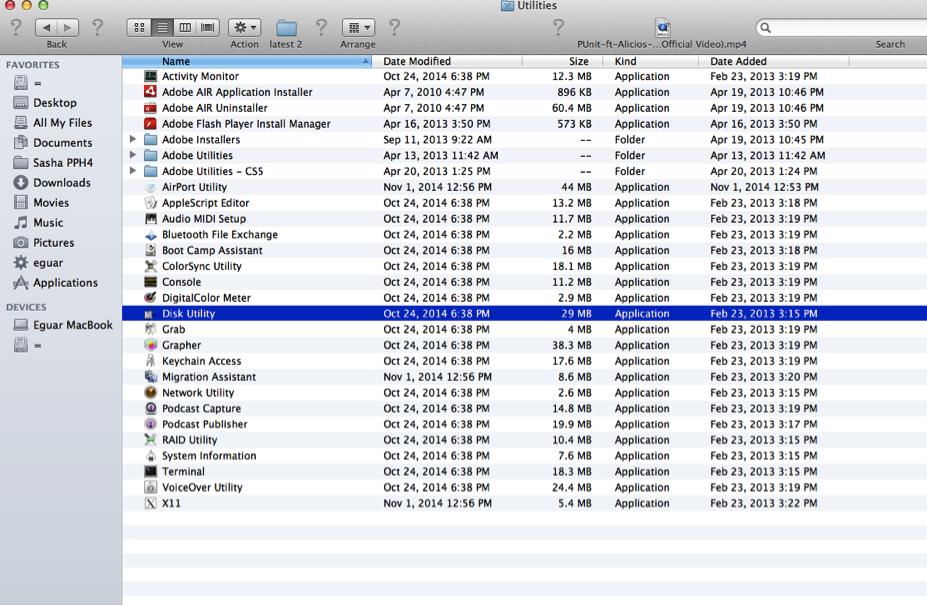 partition de disque dur sur Mac étape 1